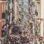 Pamplona San Fermin Street Scene